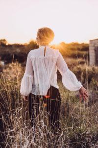 Rowan Godel Singer and Songwriter, at sunset