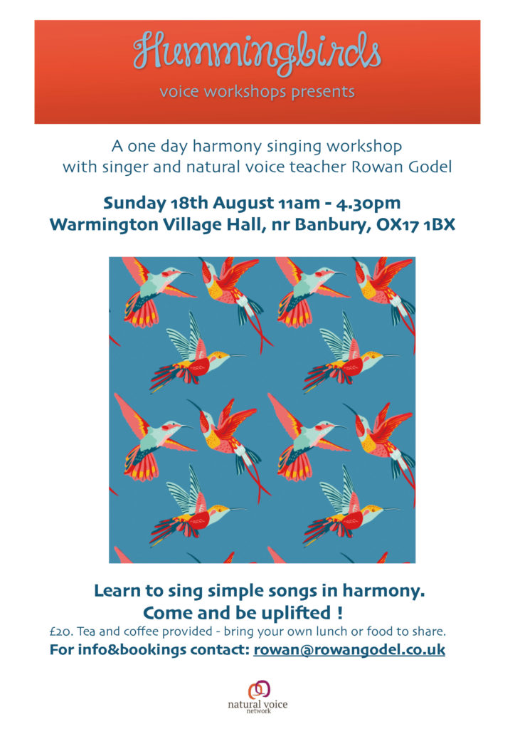 Hummingbird Voice Workshop Rowan Godel
